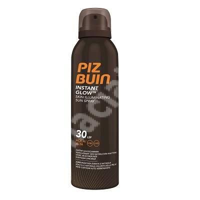 Spray cu efect de iluminare SPF30 Instant Glow, 150 ml, Piz Buin