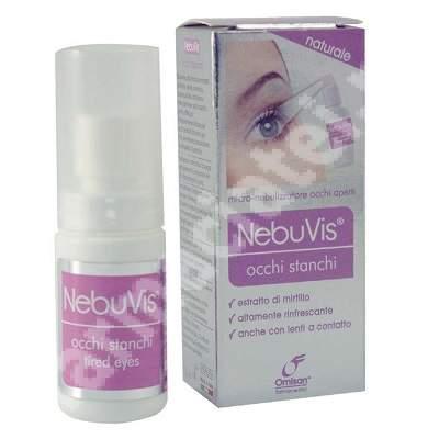 Spray cu micronebulizator pentru ochi obositi cu afine Nebuvis, 10 ml, Omisan Farmaceutici