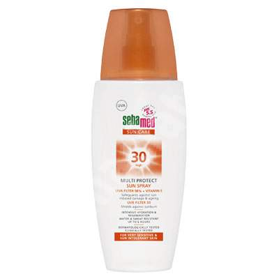 Spray dermatologic pentru protectie solara SPF 30 Sun Care, 150 ml, sebamed