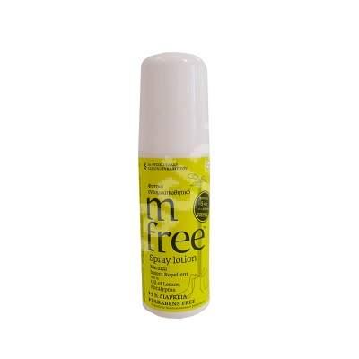 Spray natural anti-țântari, căpușe și insecte, M-Free, 80 ml, Bnef Benefit Hellas