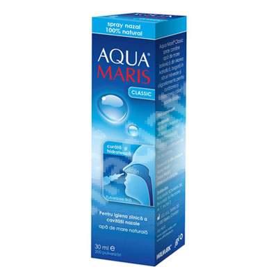 Spray nazal 100% natural Aqua Maris Classic, 30 ml, Walmark