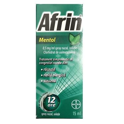 Spray nazal Afrin Mentol, 15 ml, Bayer