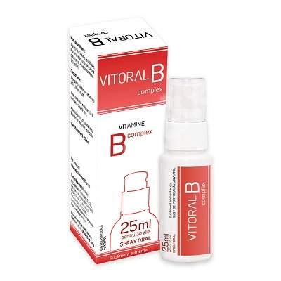 Spray Oral pentru adulti Vitoral B Complex, 25 ml, Vitalogic
