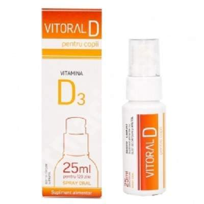 Spray oral pentru copii Vitoral D, 25 ml, Vitalogic
