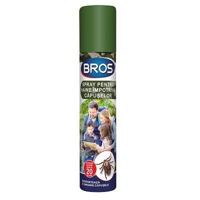 Spray pentru haine împotriva căpușelor, 90 ml, Bros