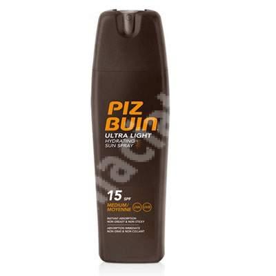 Spray protectie solara hidratant Ultra Light SPF 15, 200 ml, Piz Buin