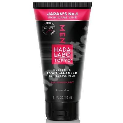 Spuma de curatare hidratanta pentru barbati cu acid super hialuronic, 150 ml, Hada Labo Tokyo