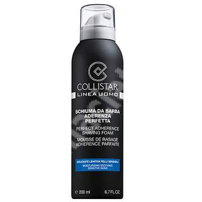 Spuma de ras pentru piele sensibila Aderenta Perfecta Linea Uomo K28042, 200 ml, Collistar