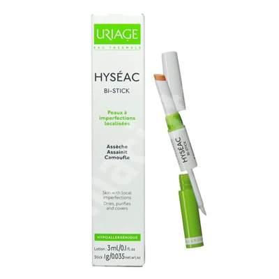 Stick pentru imperfecțiunile pielii Hyseac Bi-Stick, 3 ml, Uriage