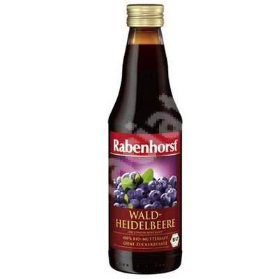 Suc Bio de Afine salbatice, 330 ml, Haus Rabenhorst