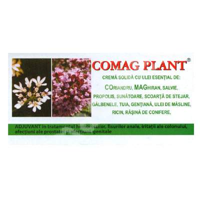 Supozitoare crema solida cu uleiuri esentiale Comag Plant, 10 bucati, Elzin Plant