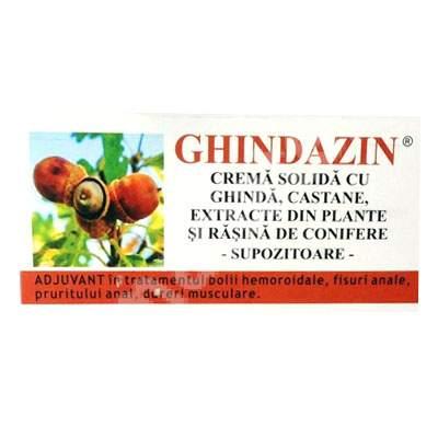 Supozitoare cu ghinda, castane, plante si rasina de conifere Ghindazin, 10 bucati, Elzin Plant