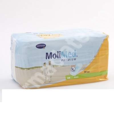 Tampoane pentru incontinență ușoară 2 picături Molimed mini, 14 bucăți, Hartmann
