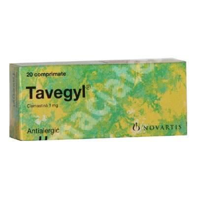 Tavegyl, 20 comprimate, Novartis