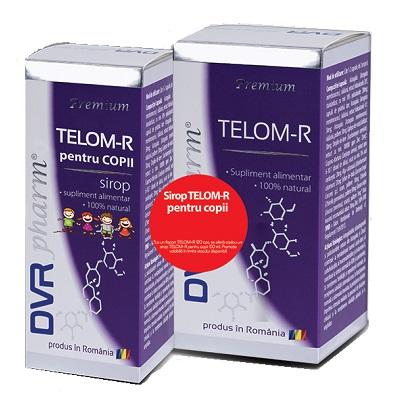 Telom-R, 120 capsule + Sirop pentru copii, 150 ml, Dvr Pharm
