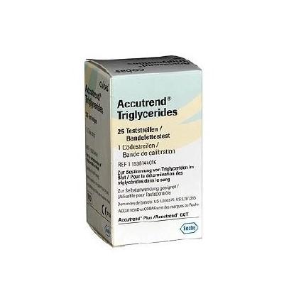 Teste trigliceride Accutrend, 25 bucăți, Roche