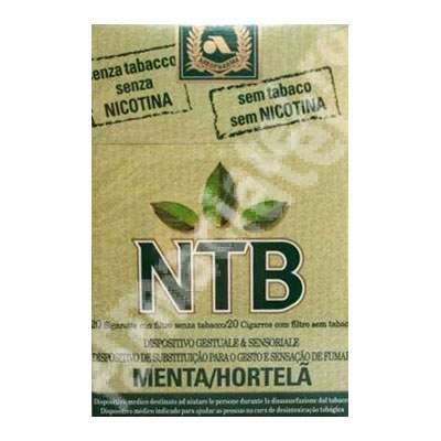 Tigari fara nicotina NTB Mentol, 20 bucati, Arkopharma