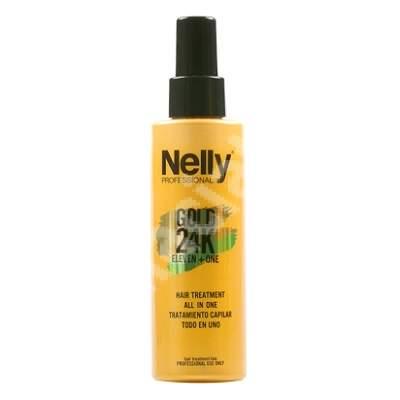 Tratament 11+1 complet pentru par Gold 24K, 150 ml, Nelly Professional