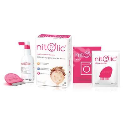 Tratament complex păduchi și lindini Nitolic Kit, 50 ml, ICB Pharma