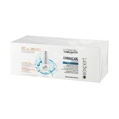 Tratament impotriva caderii parului Aminexil + omega 6 Aminexil Advanced 6 ml, 42 fiole, Loreal Professionnel