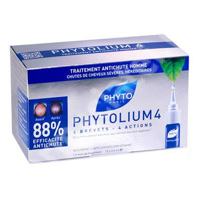 Tratament impotriva caderii parului pentru barbati Phytolium 4, 12 fiole, Phyto