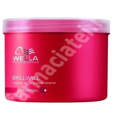Tratament masca pentru parul vopsit cu structura fina sau normala Brilliance, 500 ml, Wella Professionals