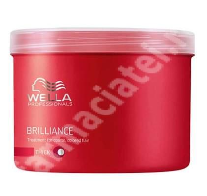 Tratament masca pentru parul vopsit cu structura puternica Brilliance, 500 ml, Wella Professionals