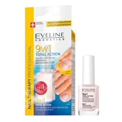 Tratament pentru unghiile piciorului 9 in 1 Total Action, 12 ml, Eveline Cosmetics