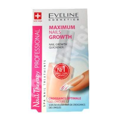 Tratament profesional creștere rapidă Nail Therapy, 12 ml, Eveline Cosmetics