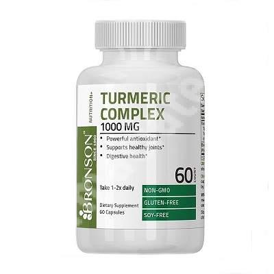 Turmeric 1000 mg cu Bioperina 5 mg, 60 capsule, Bronson Laboratories