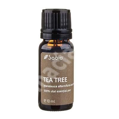 Ulei 100% pur esențial Tea Tree, 10 ml, Sabio