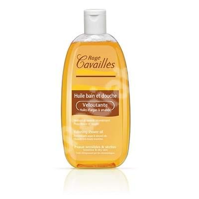 Ulei catifelant de baie si dus cu 3 uleiuri naturale pentru pielea uscata, 750 ml, Roge Cavailles
