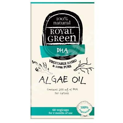 Ulei de alge Omega 3 Royal Green, 60 capsule, Frenchtop