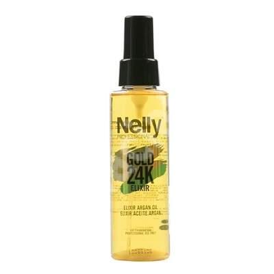 Ulei de argan Gold 24K Elixir, 100 ml, Nelly Professional