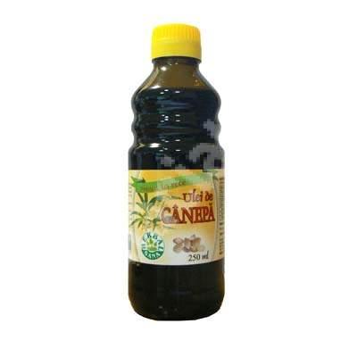 Ulei de canepa presata la rece, 250 ml, Herbavit
