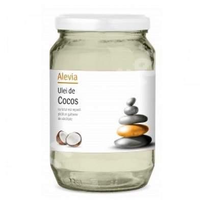 Ulei de cocos extravirgin presat la rece, 500 ml, Alevia