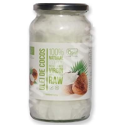 Ulei de cocos virgin presat la rece, 1000 g, Obio