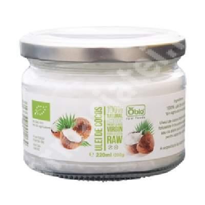 Ulei de cocos virgin presat la rece, 220 ml, Obio
