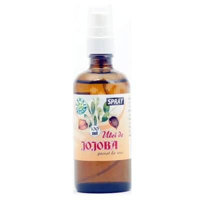 Ulei de Jojoba presat la rece spray, 100 ml, Herbavit