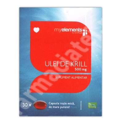 Ulei de krill 500mg MyElements, 30 capsule, Iso Plus Natural