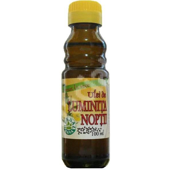 Ulei de Luminita Noptii presat la rece, 100 ml, Herbavit