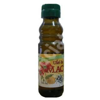 Ulei de Mac presat la rece, 100 ml, Herbavit
