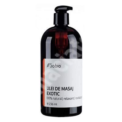Ulei de masaj exotic, 236 ml, Sabio