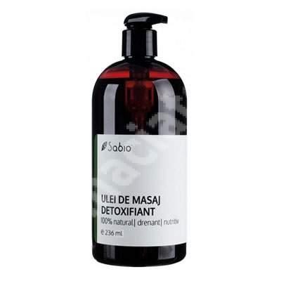 Ulei de masaj natural detoxifiant, 236 ml, Sabio
