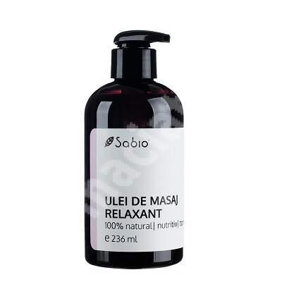Ulei de masaj relaxant, 236 ml, Sabio