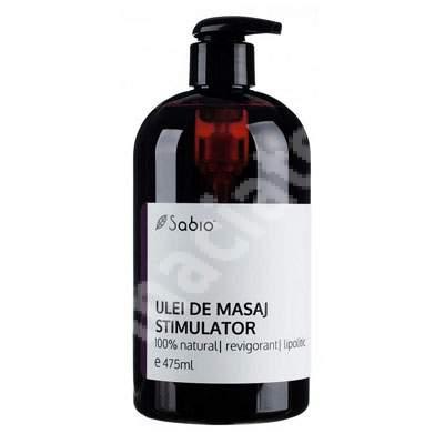 Ulei de masaj natural stimulator, 475 ml, Sabio