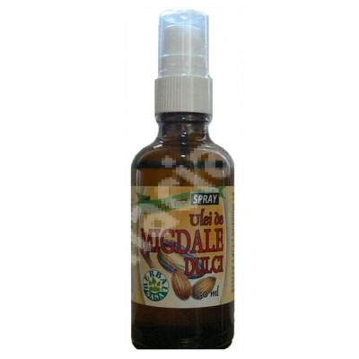 Ulei de Migdale Dulci presat la rece spray, 50 ml, Herbavit