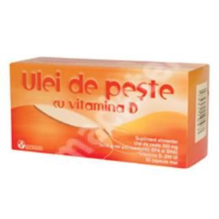 Ulei de pește cu Vitamina D, 30 capsule, Biofarm