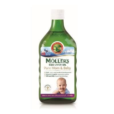 Ulei din ficat de cod Pure Mom & Baby, 250 ml, Moller's