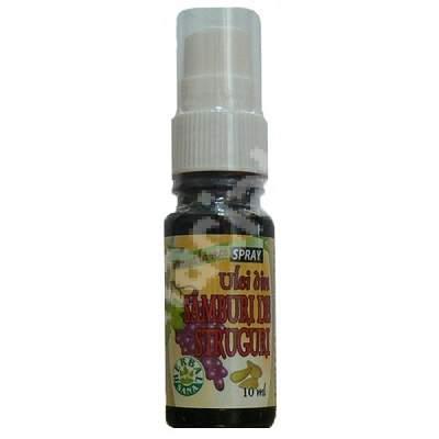 Ulei din samburi de struguri spray, 10 ml, Herbavit